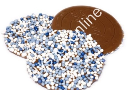 Dragee Chocolade Oublies Groot Blauw