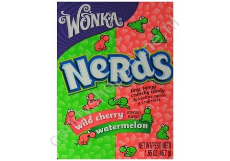 Wonka Nerds wild cherry watermelon 46gr.
