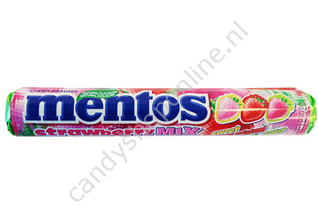 Mentos Strawberry Mix 3pck