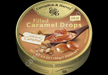 Cavendish & Harvey Filled Caramel Drops with Finest Caramel 130gr.