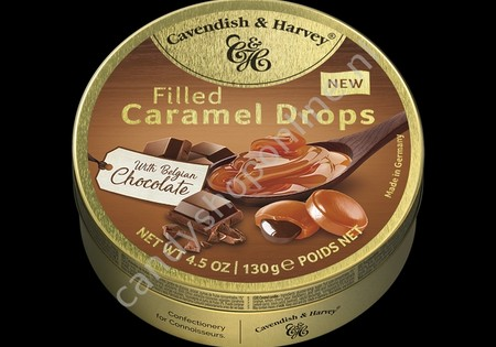 Cavendish & Harvey Filled Caramel Drops with Belgian Chocolate 130gr.