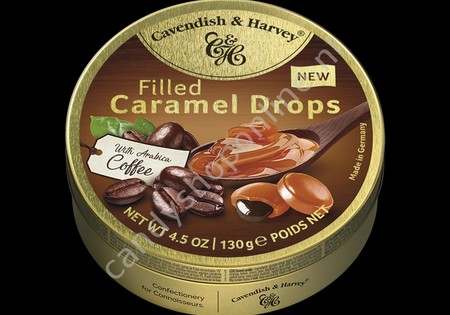Cavendish & Harvey Filled Caramel Drops with Arabica Coffee 130gr.