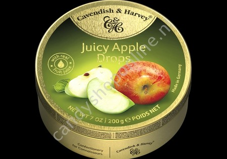 Cavendish & Harvey Apple Drops with real Fruit Juice 200gr.