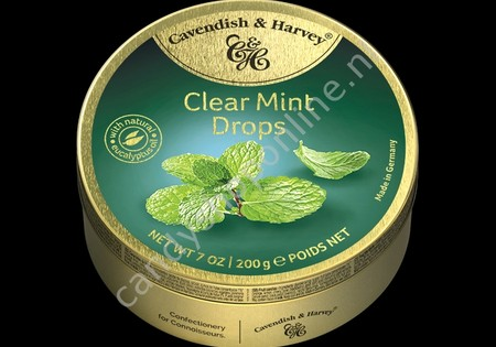 Cavendish & Harvey Clear Mint Drops with natural Eucalyptus oil 200gr.