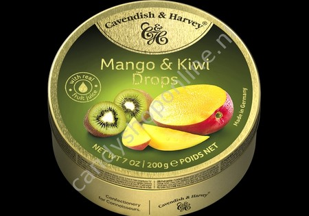 Cavendish & Harvey Mango & Kiwi Drops with real Fruit Juice 200gr.
