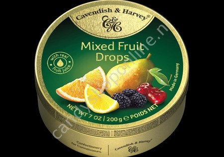 Cavendish & Harvey Mixed Fruit Drops with real Fruit Juice 200gr.