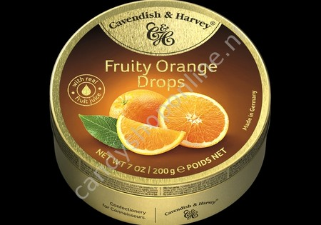 Cavendish & Harvey Fruity Orange Drops with real Fruit Juice 200gr.