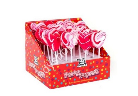 HollandF Heart Lolly Pops L50xB50mm.