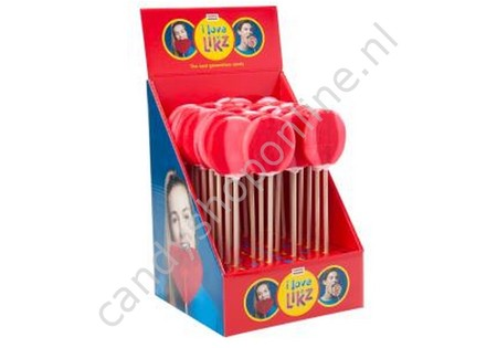 HollandF Likz Ronde Lolly 1 Rood/Roze Ø65mm.