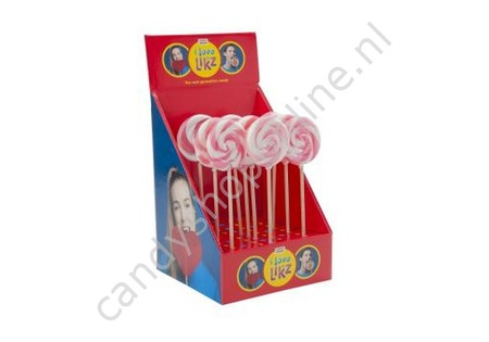 HollandF Sweetz Spiraallolly 1 Roze/Wit Ø70mm.