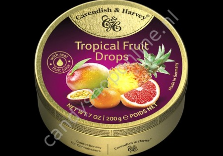 Cavendish & Harvey Tropical Fruit Drops with real Fruit Juice 200gr.