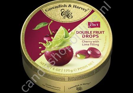 Cavendish & Harvey Double Fruit Drops Cherry with Lime filling 175gr.
